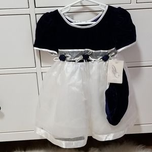 💜 Gemini Royal blue with white tulle dress 18m